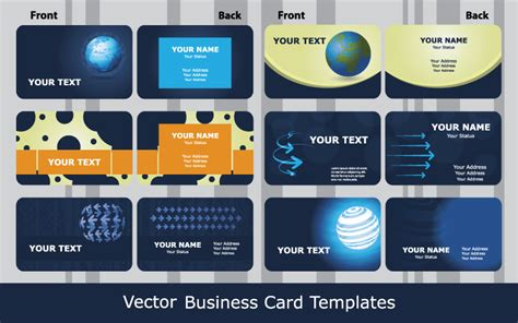 technology business card templates sense of business card templates technology blue 01 vector