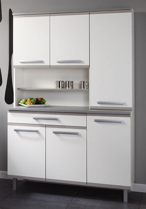 Small Space Grey Kitchen Design with Matte White Compact