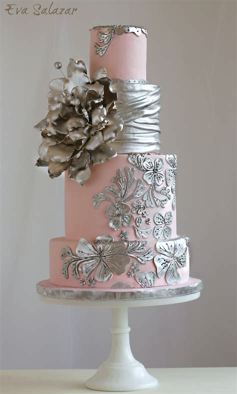 Wedding Cakes Az by Pink And Silver Wedding Cake 183 Makemememycake