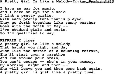 melody lyrics world war one ww1 era song lyrics for a pretty is