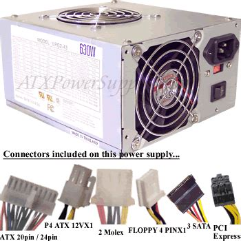 Psu Powerstation 630 Watt 630 watt atx power supply