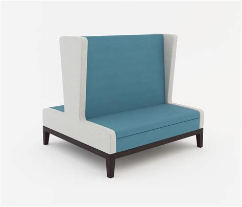 High Back Banquette Seating by Symphony Two Seat High Back Banquette Back To Back