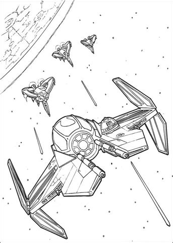 Anakin Skywalker's Eta-2 starfighter coloring page