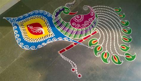 rangoli pattern video easy beautiful peacock rangoli designs