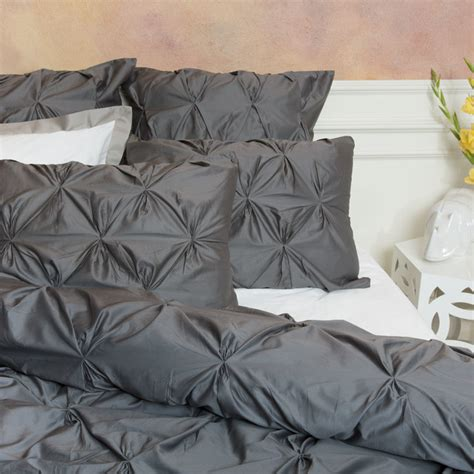 gray twin bedding twin twin xl 400 thread count pintuck duvet cover the