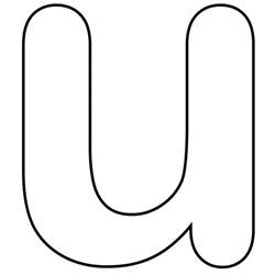 printable lower alphabet letter u template for