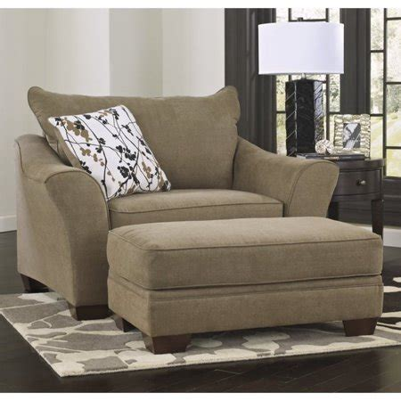 ashley mykla fabric oversized chair  ottoman