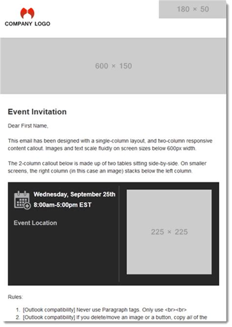 Responsive Html Email Templates Two Column Responsive Email Template