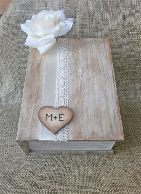 wooden wedding card holder rustic card box wooden book styled wedding reception card