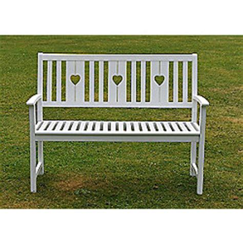 heart bench buy white heart bench from our garden benches range