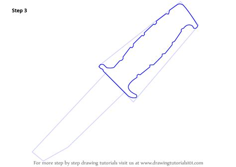 knife steps learn how to draw a knife knives step by step