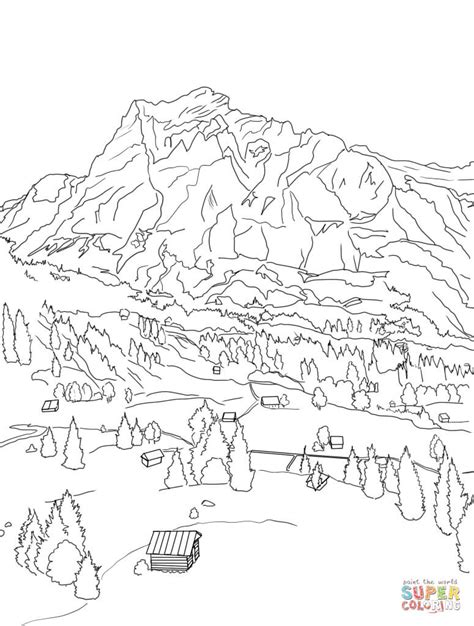 swiss alps coloring page free printable coloring pages