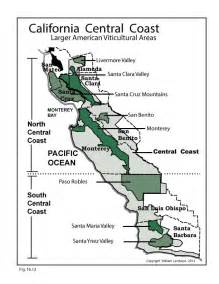 ca central coast u s wine map wine wit and wisdom