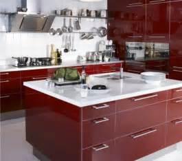 exceptional Cuisine Avec Ilot Centrale #3: cuisine-ilot-central-ikea-rouge-et-blanc1-600x530.jpg
