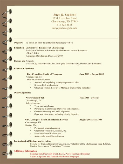 Suzy Q Resume by Resume Writing Sb For Students