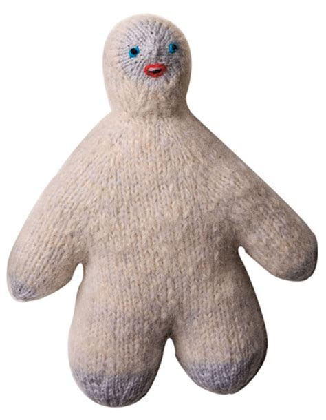knitted yeti pattern fuzzy yeti sasquatch pattern knitting patterns and