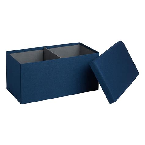 box bench navy poppin box bench the container store