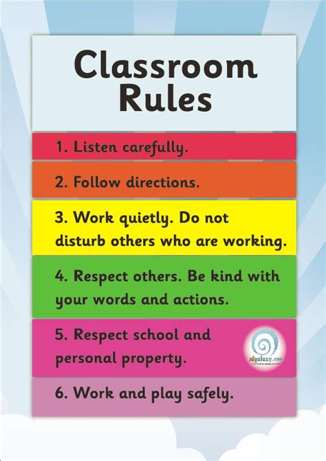 printable classroom poster free classroom rules poster edgalaxy cool stuff for