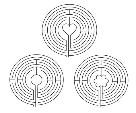 labyrinth template finger labyrinth embroidery pattern craft ideas