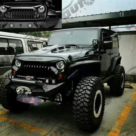 jeep grill logo angry angry bird upgrades matte black front grille fit for