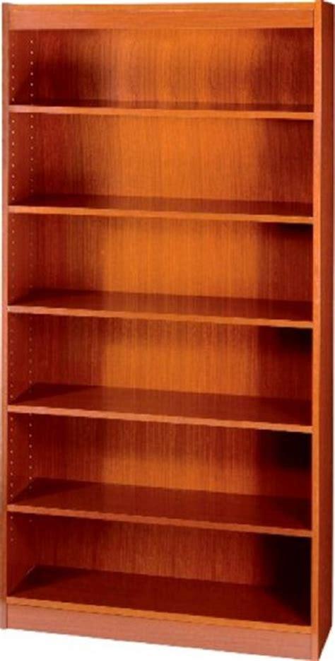 safco 1505cy square edge veneer bookcase 3 4 quot material