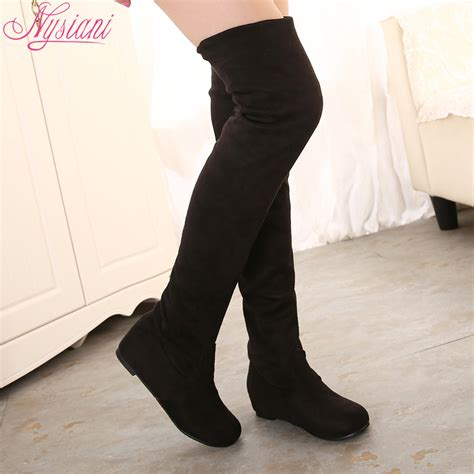 buy wholesale suede knee high boots from china