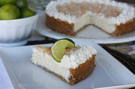 Lime Cheese Slice lime coconut cheesecake our best bites