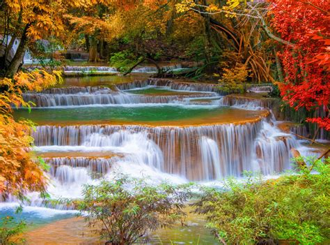 Landscape Pictures Waterfalls Waterfall River Landscape Nature Waterfalls Autumn