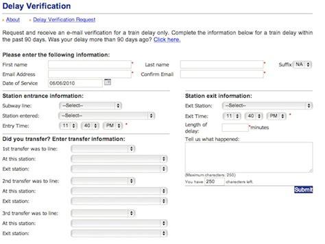 Snap Verification Letter Nyc Transit Unveils Delay Verification App Second Ave Sagas Second Ave Sagas