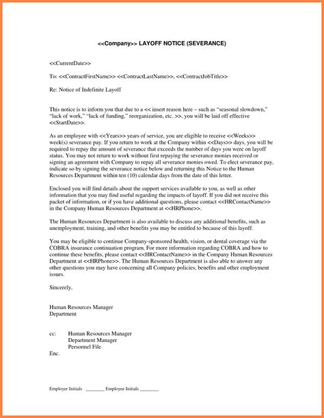 Employment Letter Of Separation 10 Employment Separation Notice Notice Letter