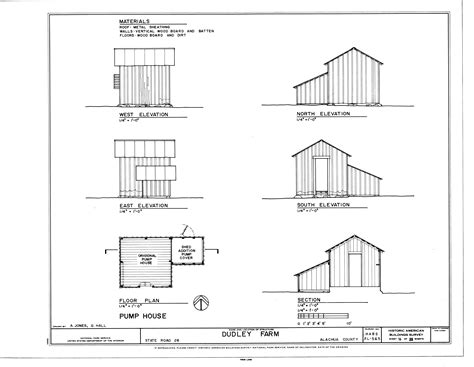floor plan and elevation of a house file pump house elevations floor plan and section dudley farm farmhouse and
