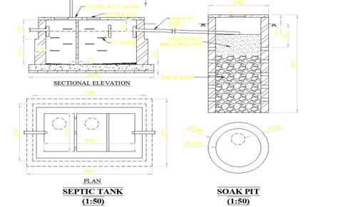 layout plan of septic tank septic tank plan dwg file