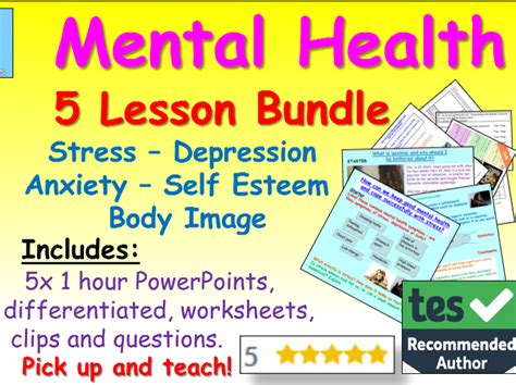 mental health section 117 secondary school teaching resources ks3 gcse and beyond