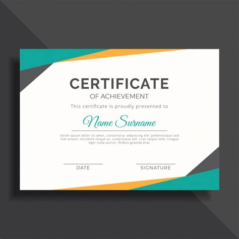 Modern Achievement Templates Blank Certificates Create Certificate Template