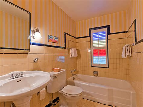 Black And Yellow Bathroom Tile Five Vintage Pastel Bathrooms In This Lovely 1942 Capsule