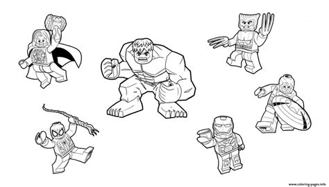 Lego Marvel Coloring Pages by Lego Marvel Superheros Free Colouring Pages