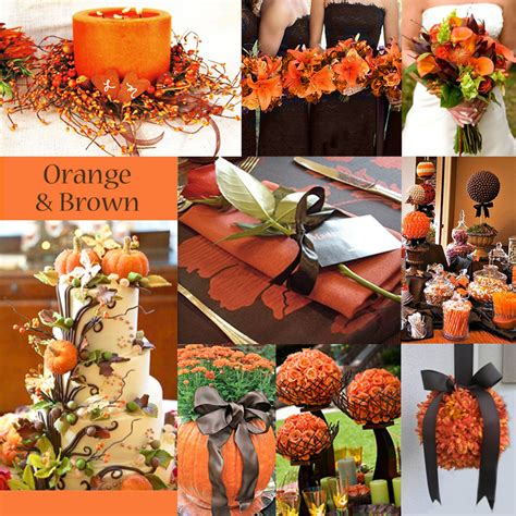 orange wedding colors trending orange wedding color ideas for fall 2014