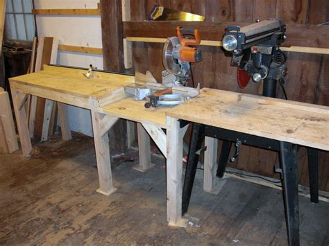 Radial Arm Saw Vs Table Saw by Multi Purpose Cutting Station With Miter Saw And Radial