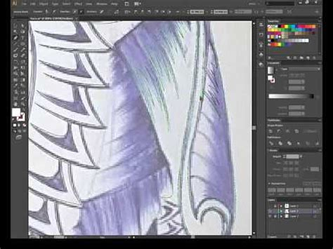 pattern illustrator edit tutorial adobe illustrator tracing change image to