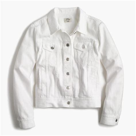 Jaket Denim White S Denim Jacket In White S Blazers J Crew