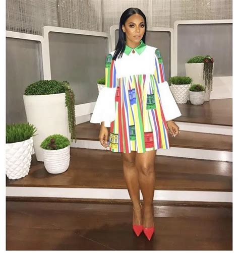 Ashinta Dress Printing or hmm ashanti s the real daytime charles and s 2017 printed dress fashion