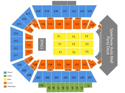 bmo harris seating chart bmo harris bank center seating chart events in rockford il