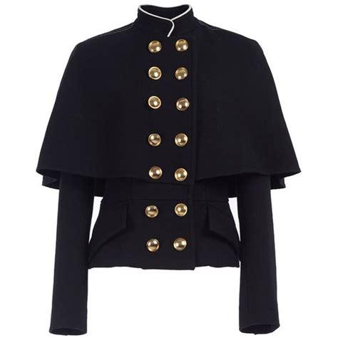 19664 Black Cape Blazer Coat cape jacket jackets and breasted on