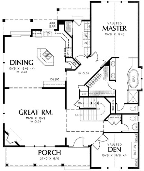 Fireplace Floor Plan by Traditional Plan With Corner Fireplace 69316am