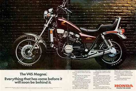 honda magna bike leapfrogging the competition 1982 1983 honda v45 magna
