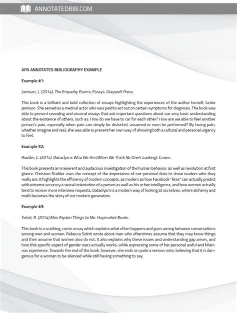 free apa bibliography template annotated bibliography template apa images professional