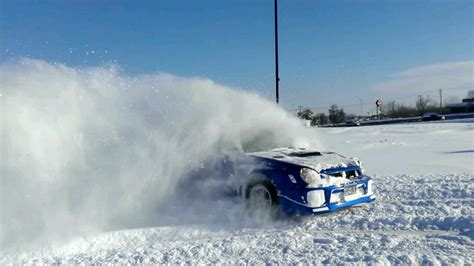 subaru drift snow subaru impreza wrx snow drift youtube