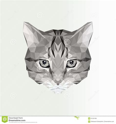 wallpaper poly cat vector illustration of low poly cat icon geometric