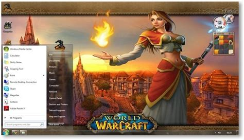 theme windows 7 world of warcraft world of warcraft cataclysm windows 7 theme wallpapers