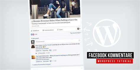 tutorial wordpress app facebook kommentare f 252 r wordpress app erstellung code
